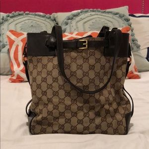 Authentic Gucci Monogram tote bag